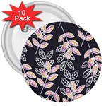 Winter Beautiful Foliage  3  Buttons (10 pack)  Front