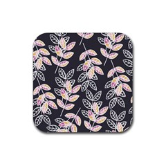 Winter Beautiful Foliage  Rubber Coaster (square)  by DanaeStudio