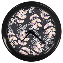 Winter Beautiful Foliage  Wall Clocks (black) by DanaeStudio