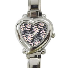 Winter Beautiful Foliage  Heart Italian Charm Watch by DanaeStudio