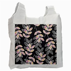 Winter Beautiful Foliage  Recycle Bag (two Side)