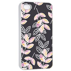 Winter Beautiful Foliage  Apple Iphone 4/4s Seamless Case (white) by DanaeStudio