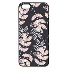 Winter Beautiful Foliage  Apple Iphone 5 Seamless Case (black) by DanaeStudio