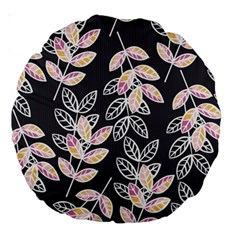 Winter Beautiful Foliage  Large 18  Premium Round Cushions by DanaeStudio