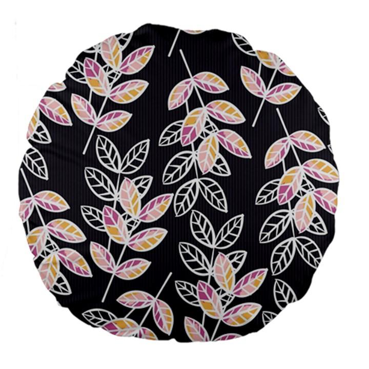 Winter Beautiful Foliage  Large 18  Premium Round Cushions