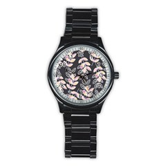 Winter Beautiful Foliage  Stainless Steel Round Watch by DanaeStudio