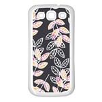 Winter Beautiful Foliage  Samsung Galaxy S3 Back Case (White) Front