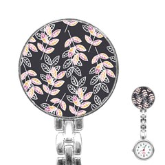 Winter Beautiful Foliage  Stainless Steel Nurses Watch by DanaeStudio