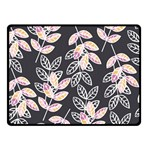 Winter Beautiful Foliage  Double Sided Fleece Blanket (Small)  45 x34 Blanket Back