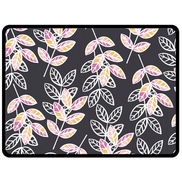 Winter Beautiful Foliage  Double Sided Fleece Blanket (Large)