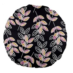 Winter Beautiful Foliage  Large 18  Premium Flano Round Cushions by DanaeStudio