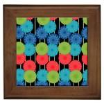 Vibrant Retro Pattern Framed Tiles Front