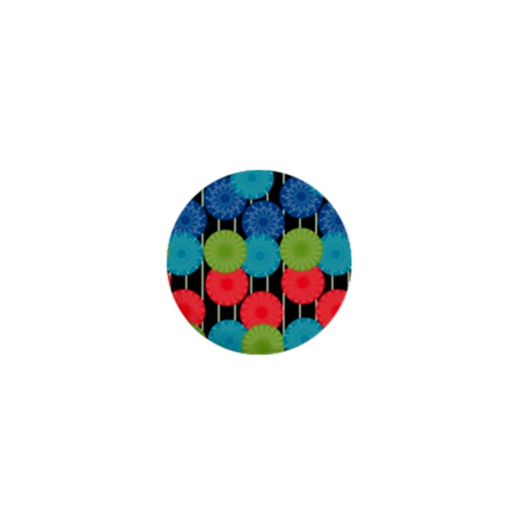 Vibrant Retro Pattern 1  Mini Buttons