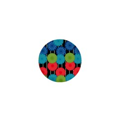 Vibrant Retro Pattern 1  Mini Magnets by DanaeStudio