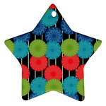 Vibrant Retro Pattern Ornament (Star)  Front