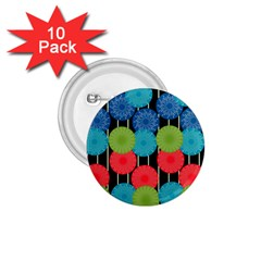 Vibrant Retro Pattern 1.75  Buttons (10 pack)