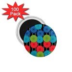 Vibrant Retro Pattern 1.75  Magnets (100 pack)  Front