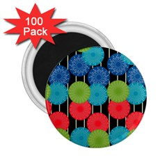 Vibrant Retro Pattern 2 25  Magnets (100 Pack)