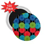 Vibrant Retro Pattern 2.25  Magnets (100 pack)  Front