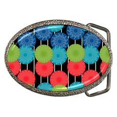 Vibrant Retro Pattern Belt Buckles