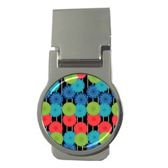 Vibrant Retro Pattern Money Clips (round)  by DanaeStudio