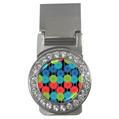 Vibrant Retro Pattern Money Clips (cz)  by DanaeStudio