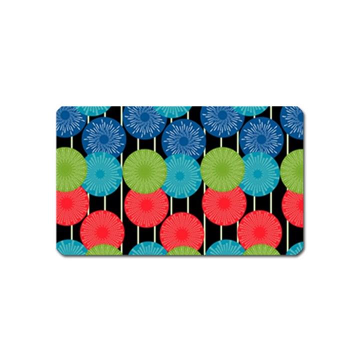Vibrant Retro Pattern Magnet (Name Card)