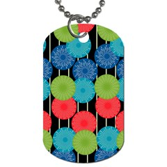 Vibrant Retro Pattern Dog Tag (two Sides) by DanaeStudio