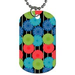 Vibrant Retro Pattern Dog Tag (Two Sides) Back