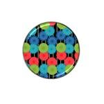 Vibrant Retro Pattern Hat Clip Ball Marker Front