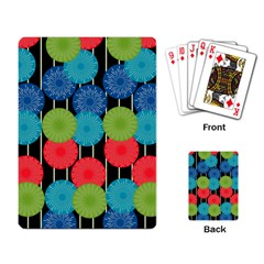 Vibrant Retro Pattern Playing Card by DanaeStudio