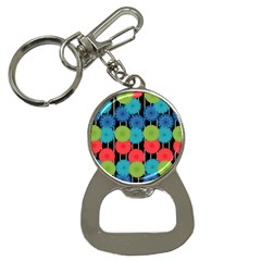 Vibrant Retro Pattern Bottle Opener Key Chains by DanaeStudio