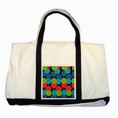 Vibrant Retro Pattern Two Tone Tote Bag