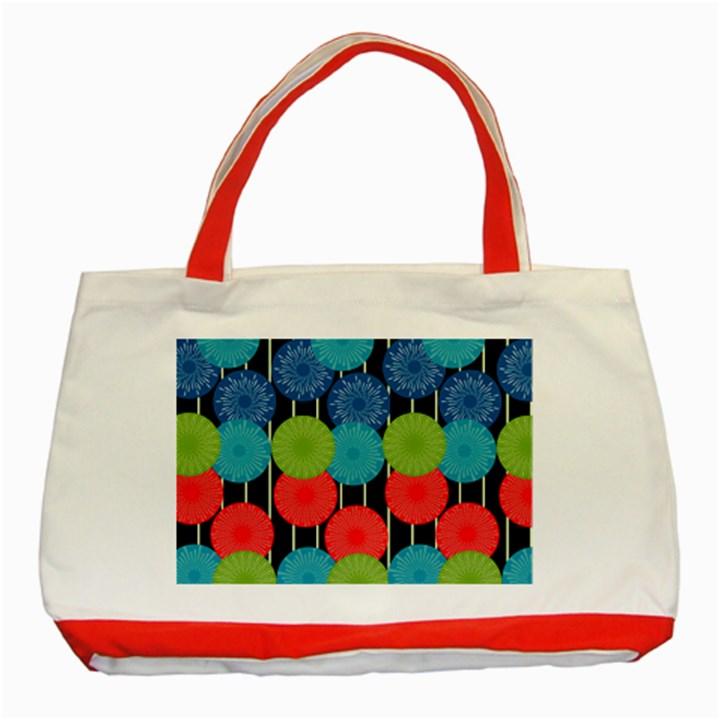 Vibrant Retro Pattern Classic Tote Bag (Red)