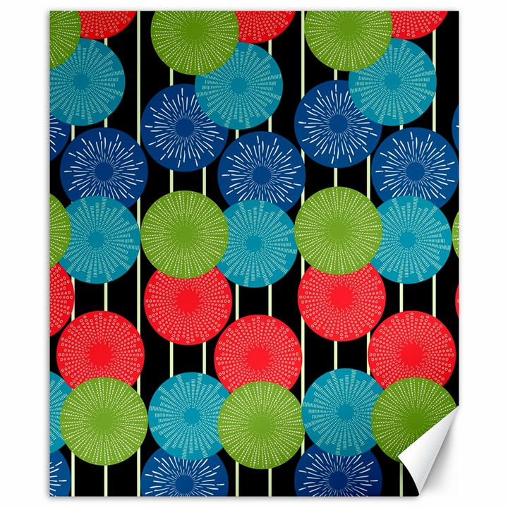 Vibrant Retro Pattern Canvas 8  x 10