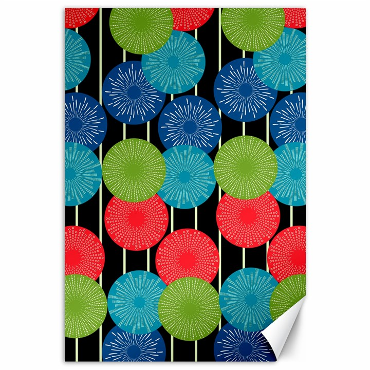 Vibrant Retro Pattern Canvas 12  x 18