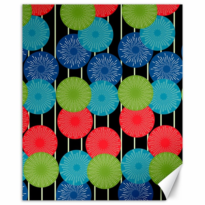 Vibrant Retro Pattern Canvas 16  x 20