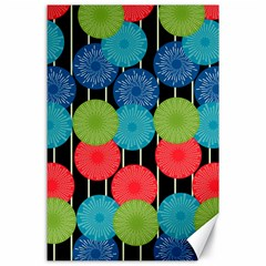 Vibrant Retro Pattern Canvas 24  X 36  by DanaeStudio
