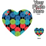 Vibrant Retro Pattern Playing Cards 54 (Heart)  Front - HeartQ