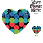 Vibrant Retro Pattern Playing Cards 54 (Heart)  Front - SpadeJ