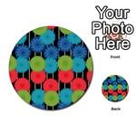 Vibrant Retro Pattern Multi-purpose Cards (Round)  Back 44