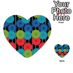 Vibrant Retro Pattern Multi-purpose Cards (Heart)  Front 9
