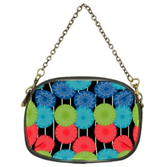 Vibrant Retro Pattern Chain Purses (Two Sides)
