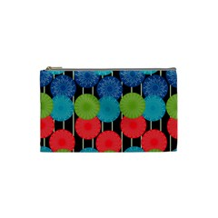 Vibrant Retro Pattern Cosmetic Bag (small)  by DanaeStudio