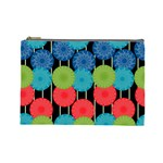 Vibrant Retro Pattern Cosmetic Bag (Large)  Front