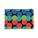 Vibrant Retro Pattern Cosmetic Bag (Large)  Back