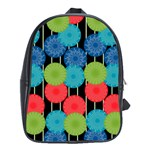 Vibrant Retro Pattern School Bags(Large)  Front