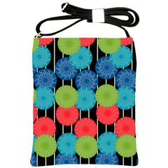 Vibrant Retro Pattern Shoulder Sling Bags by DanaeStudio