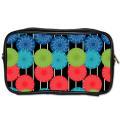 Vibrant Retro Pattern Toiletries Bags