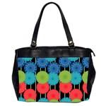 Vibrant Retro Pattern Office Handbags (2 Sides)  Front